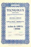 TECNICOLUX SA, accion, 1948 (Siege: Bruxelles)
