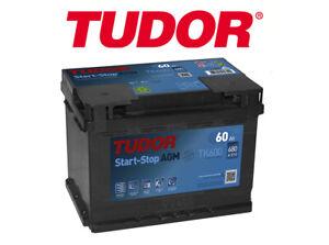 BATERIA TUDOR 60AH / 680A (EN) +D GAMA AGM START-STOP 2 AÑOS DE GARANTIA COCHE