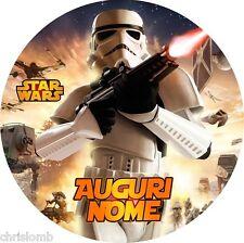 Cialda STAR WARS Decorazione Torta Ostia o Zucchero Darth Vader 2