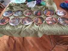"""Norman Rockwell """"Rediscovered Women"""" Collector Plates Set Of 12"""