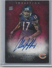 1/1 ALSHON JEFFERY 2012 TOPPS INCEPTION RED ON CARD AUTO RC #D 17/25 JERSEY #17!