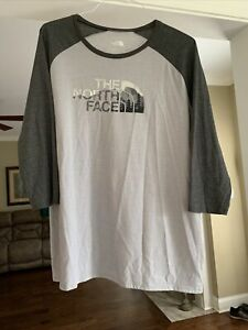 North Face Women's XL Shirt New With Tags Gray 3/4 Length Sleeve