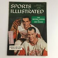 Sports Illustrated Magazine March 18 1957 Ted Lindsay & Gordie Howe Red Wings