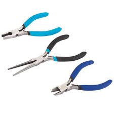 3pc Pliers Set Mini Combination Long Nose Side Cutters Plier Bluespot 08512