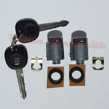 2 OEM Door Lock Driver Passenger Trunk Lock Cylinder GM 15783575 706591 w/ Keys