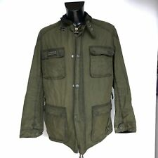 Giacca Barbour International Blackwell Verde Tg. XXL Rare Green Wax Jacket Lined