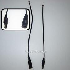 2 x Sets - 12v DC Power Supply Cable Ends, 5.5 x 2.1 Plug 2 Male & 2 Female CCTV