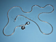 """You're Beautiful - 2mm Snake Chain Necklace  22 """" 925 Sterling Silver USA Seller"""