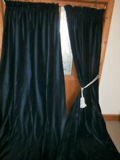 PAIR of Navy Blue Velvet Curtains 100 Inch / 2.54m Drop.SIX Pairs Available.