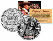JOHN WAYNE  * THE LONGEST DAY * JFK Kennedy Half Dollar US Coin - Licensed