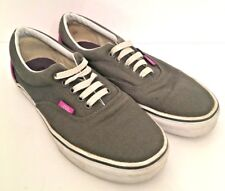 7.5 Mens 9 womens Vans Gray and Magenta Classic Skate Sneaker Canvas Lace Up TB4