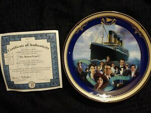"""""""The Human Legacy"""" Titanic Queen of the Ocean authentic plateware #1362A"""