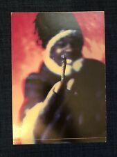 Busta Rhymes Holiday Card Old Holding Blunt Sticker Postcard Preowned