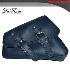 2004-2016 LaRosa Blue Leather Harley Sportster Nightster Left Solo Saddle Bag