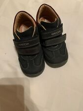 Geox Boys Toddler Black Burgundy Shoes Euro Size 25 US Size 8.5 EUC