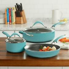 The Pioneer Woman Frontier 5-Piece Cookware Set, Turquoise