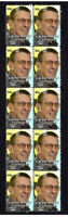 LEONARD NIMOY STAR TREK SPOCK STRIP OF 10 MINT VIGNETTE STAMPS 2