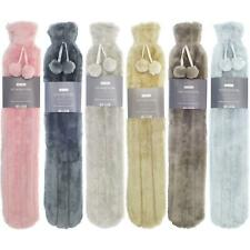 Extra Long Hot Water Bottles Faux Fur Super Soft Cosy Plush Cover Fluffy Bottle