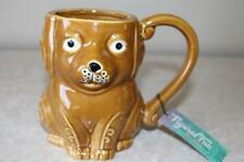 BOSTON WAREHOUSE HAND PAINTED DOG STONEWARE MUG(s)
