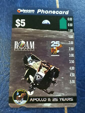 Used 1Hole $10 Apollo 11 25th Anniversary -  Eagle In Orbit Phonecard Prefix 560