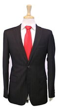 * PAL ZILERI * Very Recent Black/Brown Tonestripe 2-Btn 120's Wool Suit 36R