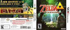 The Legend of Zelda A Link Between Worlds Nintendo 3DS Cover Art No Game, No Box