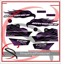 Yamaha Banshee Decals 2008 Purple Model Full Set Graphics OEM Fender