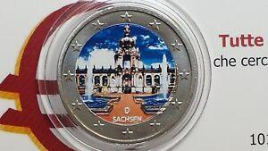 2 euro 2016 GERMANIA colorato color farbe Allemagne Alemania Deutschland Germany