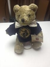 Channel Island10in Fully Jointed Stuffed Bear - Bank of England w/ Tags Attached