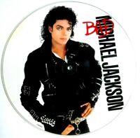 EX/EX MICHAEL JACKSON BAD LP PICTURE DISC 1987 ORIGINAL EPIC