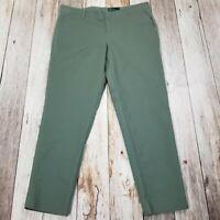 Gap Slim Crop Pants Womens 16 Tall Green 38/30