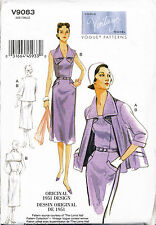 VOGUE SEWING PATTERN 9083 MISSES 14-22 RETRO '51 STRAPLESS DRESS JACKET & COLLAR