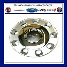 "Genuine New Fiat 500 Silver and Chrome Centre Wheel Trim 14 "" Hub Cap  50901871"