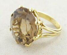 Women's Ring With Large Smoky Quartz 12 Carat 585er Gold