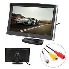 "5"" TFT LCD Display Car Monitor Color Screen For Rear View Backup Reverse Camera"