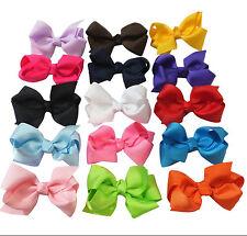 "15 pc 3""  Boutique Hair Bows Girls Baby Alligator Clip Grosgrain Ribbon"