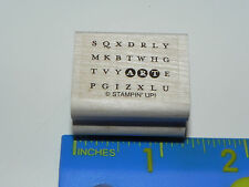 Stampin Up Small Rubber Stamp - ART (Bold Word Search type/design)