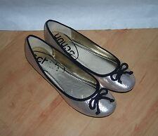 NEW Schuh ladies CHERIE BALLERINA gold slip on summer pumps size UK 6 EU 39