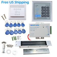 RFID Door Access Control System Kit + 620LBs Magnetic Lock +10 keys+ EXIT button