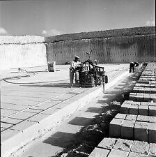 MATERA c. 1950 - Carrière Découpe Pierres Italie - Négatif 6 x 6 - ITAL 36