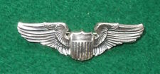 "WWII US Army Air Force STERLING 2"" Shirt Sized PILOT Wings AAF"