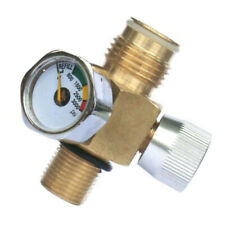 Co2 Tank Male On Off Valve 3000 Psi Gauge Paintball Connector Replacement Tool