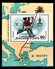 SELLOS OLIMPIADAS DE VERANO HUNGRIA 1980 HB 147 MOSCU 80 ANTORCHA OLIMPICA.