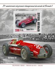 Togo Sports Stamps 2020 MNH F1 Formula Auto Racing Ferrari 275 Alfa Romeo 1v S/S