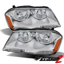 "2008-2014 Dodge Avenger SXT R/T SE ""Factory Style"" Chrome LH+RH Headlights Lamps"