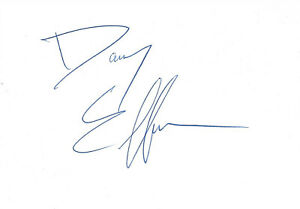 Danny Elfman Composer signed 4x6 inch white card autograph