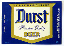 Silver Springs Brewing Co. DURST BEER label WA 11oz