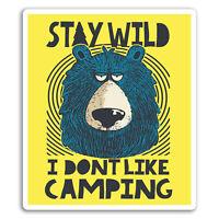 2 x 10cm Wild Bear Vinyl Stickers - Camping Hiking Funny Sticker Laptop #17507
