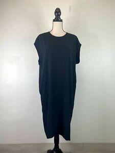 Everlane women's black The Japanese GoWeave Back-Zip long dress SZ 6