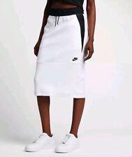 WOMENS NIKE TECH FLEECE SKIRT SIZE S (831719 100) WHITE / BLACK